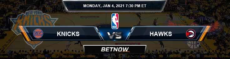 New York Knicks vs Atlanta Hawks 1-4-2021 Spread Picks and Prediction