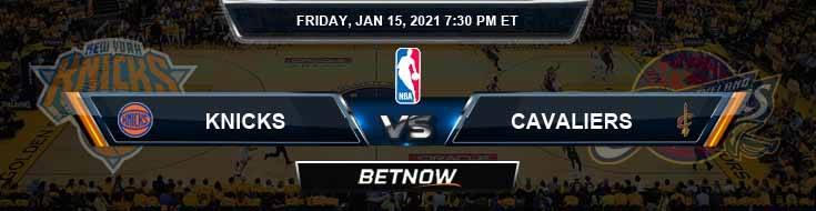 New York Knicks vs Cleveland Cavaliers 1-15-2021 Odds Spread and Picks