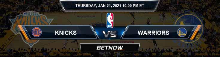 New York Knicks vs Golden State Warriors 1-21-2021 NBA Odds and Picks