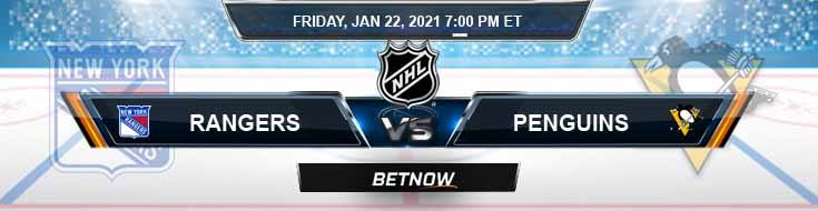 New York Rangers vs Pittsburgh Penguins 01-22-2021 Spread Game Analysis and Tips