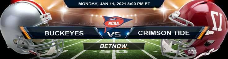 Alabama Crimson Tide 01-11-2021 NCAAF Odds Picks and Predictions