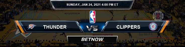 Oklahoma City Thunder vs Los Angeles Clippers 1-24-2021 NBA Odds and Picks