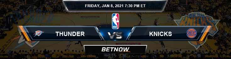 Oklahoma City Thunder vs New York Knicks 1-8-2021 NBA Spread and Picks