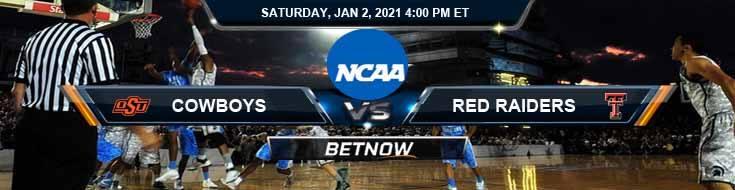 Oklahoma State Cowboys vs Texas Tech Red Raiders 01-02-2021 Game Analysis Spread & NCAAB Picks