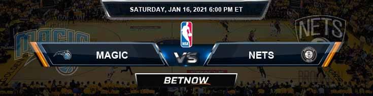 Orlando Magic vs Brooklyn Nets 1-16-2021 Spread Picks and Previews