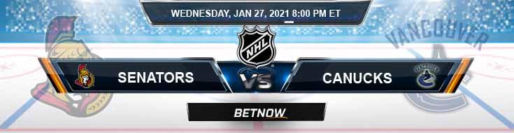 Ottawa Senators vs Vancouver Canucks 01-27-2021 Predictions NHL Previews and Spread