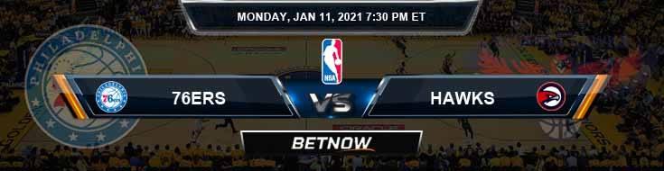 Philadelphia 76ers vs Atlanta Hawks 1-11-2021 Odds Picks and Previews