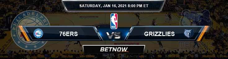 Philadelphia 76ers vs Memphis Grizzlies 1-16-2021 NBA Picks and Previews