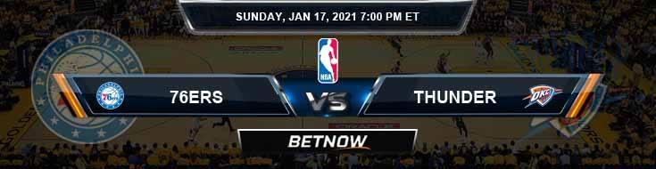 Philadelphia 76ers vs Oklahoma City Thunder 1-17-2021 NBA Spread and Picks