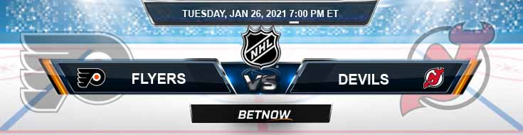 Philadelphia Flyers vs New Jersey Devils 01-26-2021 Odds NHL Picks and Predictions