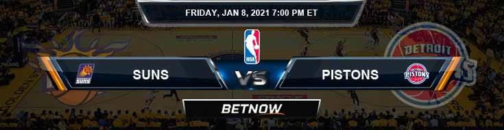 Phoenix Suns vs Detroit Pistons 1-8-2021 Spread Picks and Game Analysis