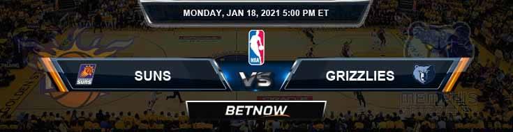 Phoenix Suns vs Memphis Grizzlies 1-18-2021 Spread Picks and Prediction