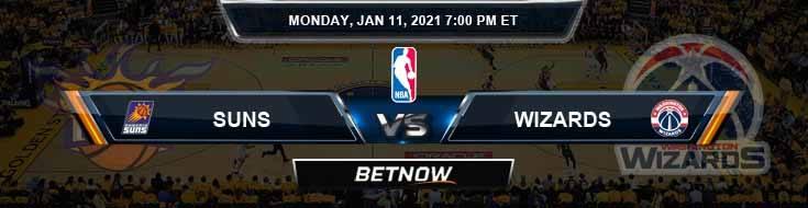 Phoenix Suns vs Washington Wizards 1-11-2021 NBA Odds and Previews