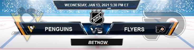 Pittsburgh Penguins vs Philadelphia Flyers 01-13-2021 Odds Picks and Predictions