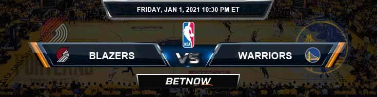Portland Trail Blazers vs Golden State Warriors 1-1-2021 NBA Odds and Picks