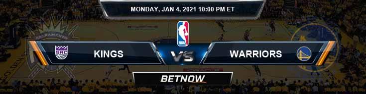 Sacramento Kings vs Golden State Warriors 1-4-2021 NBA Odds and Picks