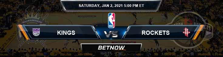 Sacramento Kings vs Houston Rockets 1-2-2021 Odds Picks and Previews
