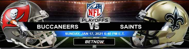 Tampa Bay Buccaneers vs New Orleans Saints 01-17-2021 Betting Tips NFC Divisional Playoffs and NFL Forecast