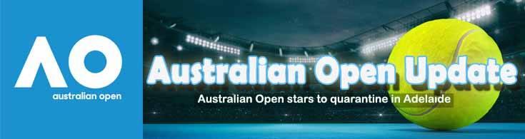 Tennis Update 2021 Australian Open Stars to Quarantine in Adelaide