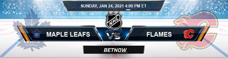 Toronto Maple Leafs vs Calgary Flames 01-24-2021 Forecast NHL Analysis and Results