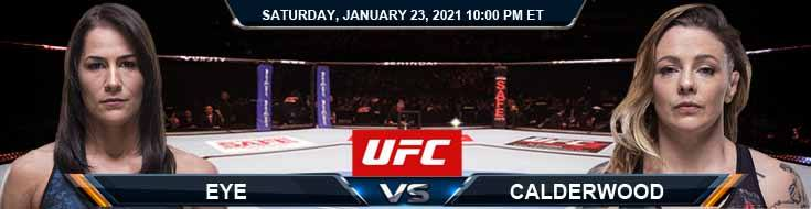 UFC 257 Eye vs Calderwood 01-23-2020 Predictions Betting Previews and Spread