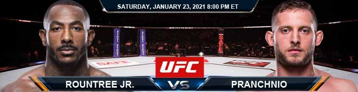UFC 257 Rountree Jr. vs Prachnio 01-23-2021 Forecast Betting Tips and Results