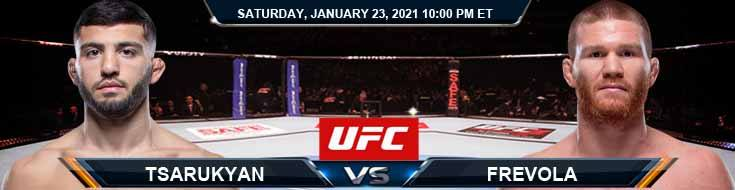 UFC 257 Tsarukyan vs Frevola 01-23-2021 Previews Betting Spread and Fight Analysis