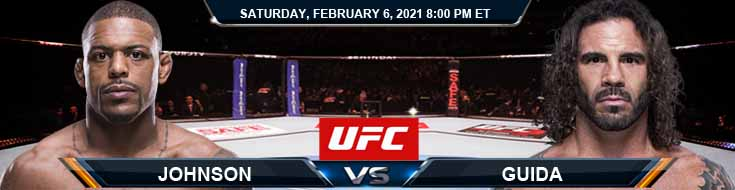 UFC Fight Night 184 Johnson vs Guida 02-06-2021 Forecast Tips and Results