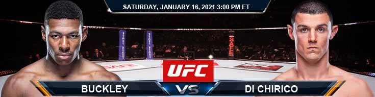 UFC On ABC 1 Buckley vs Di Chirico 01-16-2021 Betting Previews Spread and Fight Analysis