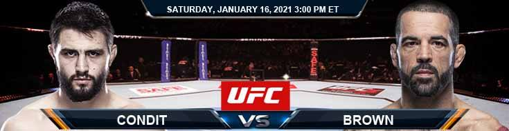 UFC On ABC 1 Condit vs Brown 01-16-2021 Picks Betting Predictions and Previews