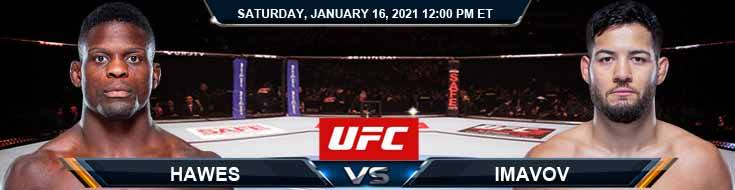 UFC On ABC 1 Hawes vs Imavov 01-16-2021 Fight Analysis Forecast and Betting Tips