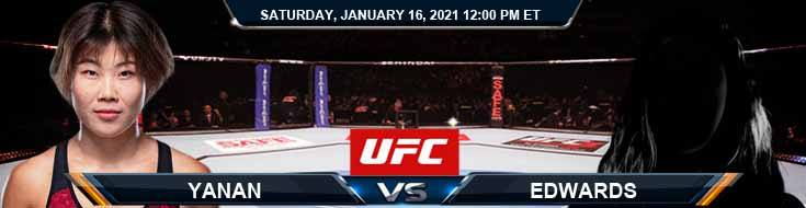 UFC On ABC 1 Yanan vs Edwards 01-16-2021 Forecast Betting Tips and Results