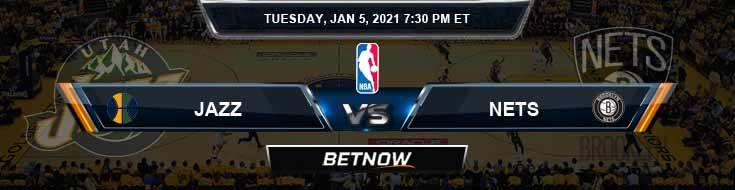 Utah Jazz vs Brooklyn Nets 1-5-2021 Previews Picks and Game Analysis