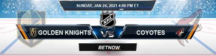Vegas Golden Knights vs Arizona Coyotes 01-24-2021 NHL Analysis Results and Hockey Betting
