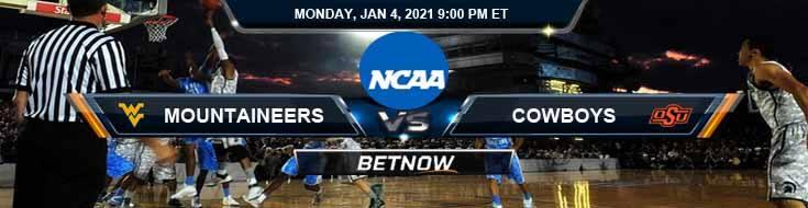 West Virginia Mountaineers vs Oklahoma State Cowboys 01-04-2021 Basketball Betting Picks & Spread