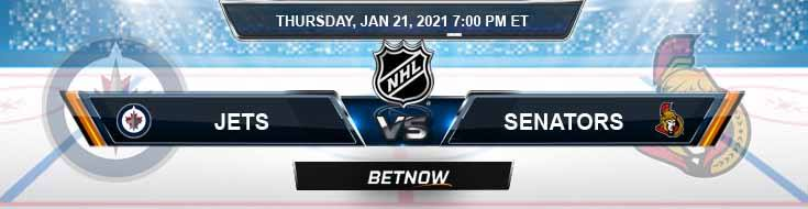 Winnipeg Jets vs Ottawa Senators 01/21/2021 Predictions, Betting Previews and Spread