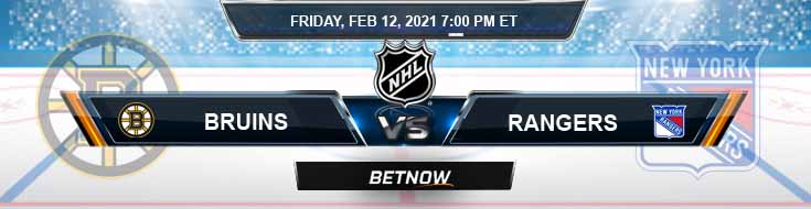 Boston Bruins vs New York Rangers 02/12/2021 Odds, Picks and Predictions