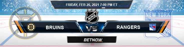 Boston Bruins vs New York Rangers 02-26-2021 Tips NHL Forecast and Analysis