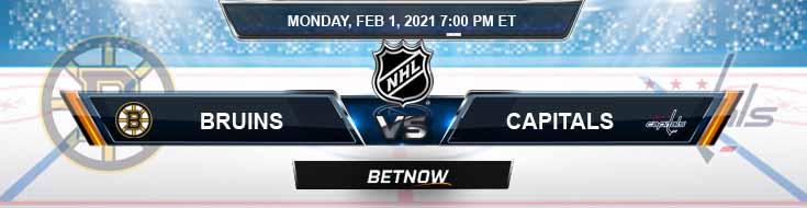Boston Bruins vs Washington Capitals 02-01-2021 NHL Odds Picks and Predictions