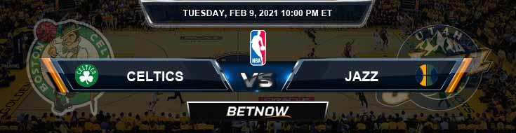 Boston Celtics vs Utah Jazz 2-9-2021 NBA Odds and Game Analysis
