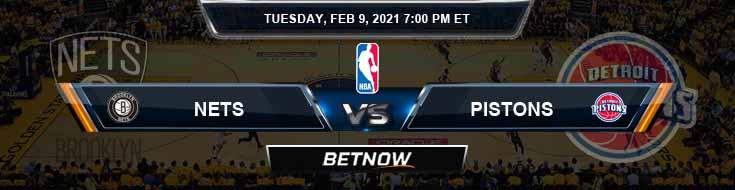 Brooklyn Nets vs Detroit Pistons 2-9-2021 Spread Picks and Prediction