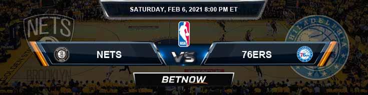 Brooklyn Nets vs Philadelphia 76ers 2-6-2021 Spread Picks and Previews