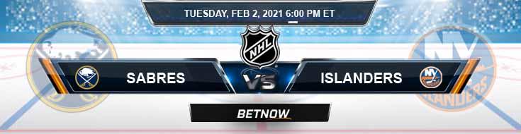 Buffalo Sabres vs New York Islanders 02-02-2021 Picks NHL Predictions and Previews