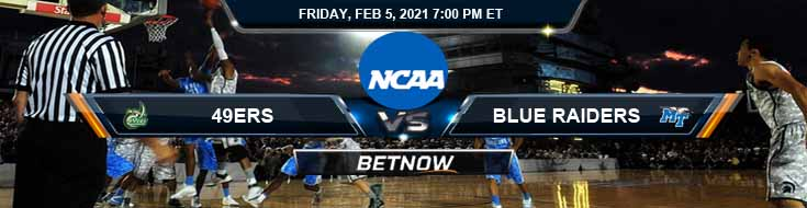 Charlotte 49ers vs Middle Tennessee Blue Raiders 02-05-2021 Game Analysis Spread & NCAAB Picks