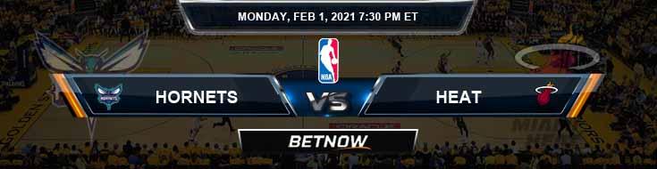 Charlotte Hornets vs Miami Heat 2-1-2021 Picks Previews and Prediction