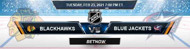 Chicago Blackhawks vs Columbus Blue Jackets 02-23-2021 Picks Predictions and Previews