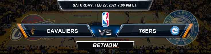 Cleveland Cavaliers vs Philadelphia 76ers 2/27/2021 NBA Odds and Picks
