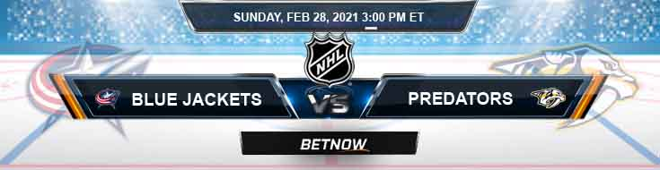Columbus Blue Jackets vs Nashville Predators 02-28-2021 Results Hockey Betting and Odds