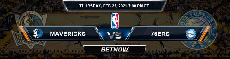 Dallas Mavericks vs Philadelphia 76ers 2-25-2021 NBA Spread and Picks