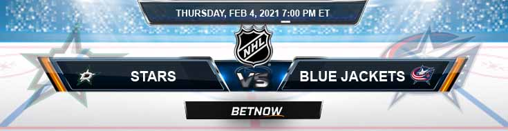 Dallas Stars vs Columbus Blue Jackets 02-04-2021 NHL Previews Spread and Game Analysis
